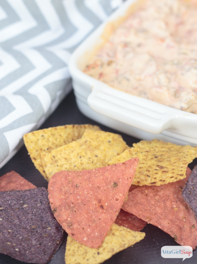 chips and sausage chili cheese dip