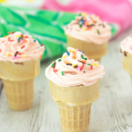 These cupcake ice cream cones are perfect for summertime parties because they won't melt. You can make them in any flavor you like, but these tangy-sweet pink lemonade cupcakes are a great summer treat. Learn how to mix up a batch using a cake mix and Kool-Aid -- just click for the recipe.
