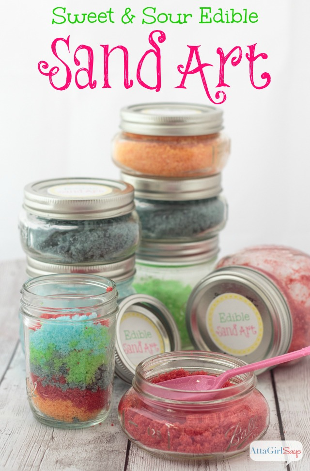 Edible Sand Art Recipe & Party Printables