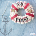 S.S. Poise Nautical Wreath Craft #RecycleYourPeriodPad #ad