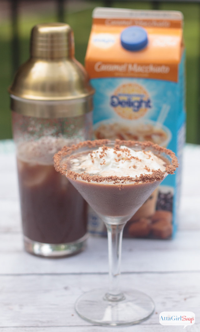 Sometimes, I like my coffee with a little kick!  This iced coffee and chocolate martini recipe really hits the spot! #IDelightIn10 #spon #IDelight