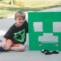 DIY Minecraft Bean Bag Toss Game