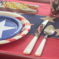 Patriotic Denim and Burlap Placemats