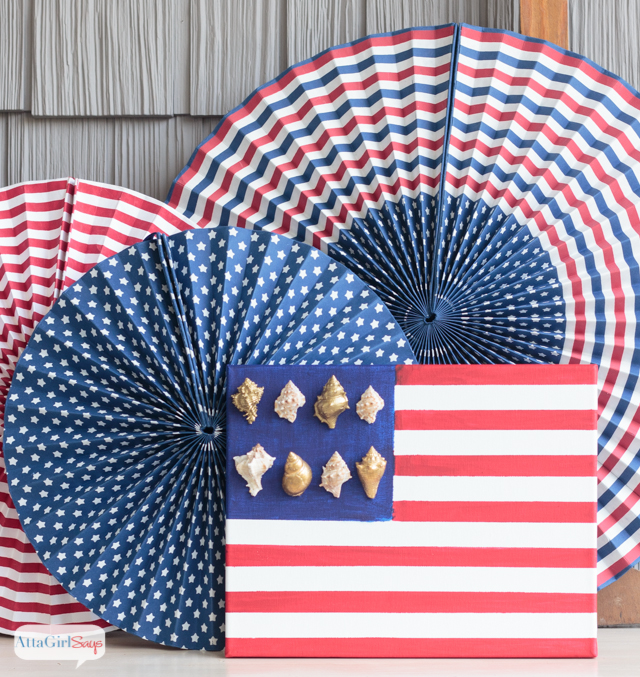 Patriotic Nautical Flags + Patriotic Painting Projects
