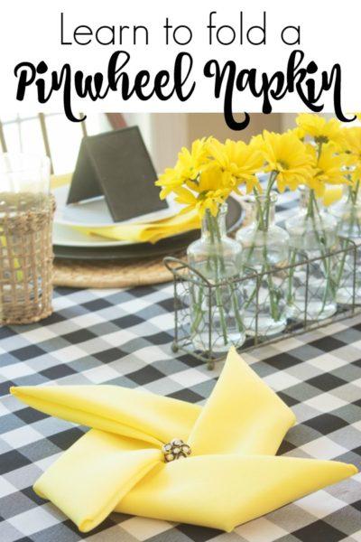 How to Fold Napkins Into Pinwheels