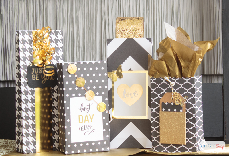 Girly & Glam Scrapbook Paper Gift Bags