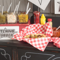 Baseball Themed Hot Dog Toppings Bar