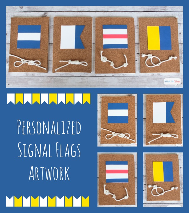 what a cool idea for a beach house or a nautical bedroom use nautical signal