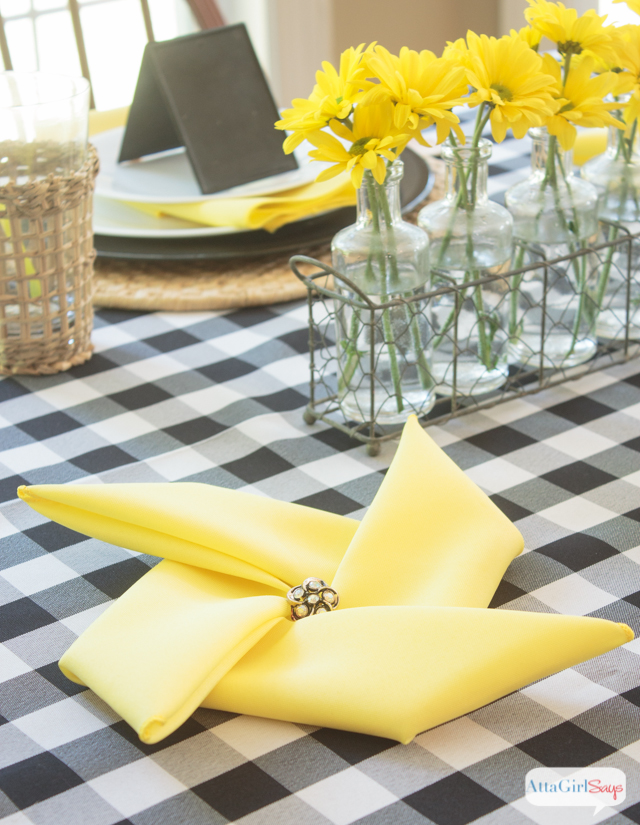 Black amp Yellow Table Decoration Ideas