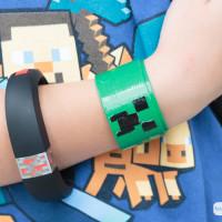DIY Creeper Slap Bracelet Minecraft Craft