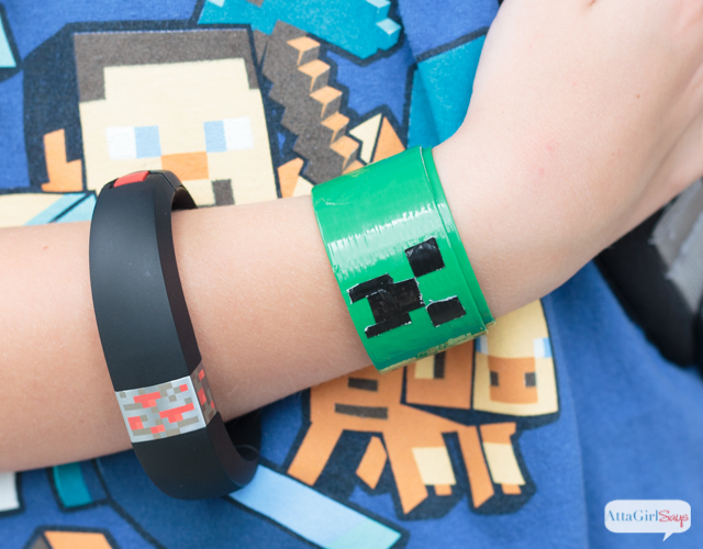 Here's another kid-friendly Minecraft craft: a DIY creeper face slap bracelet that you make with duct tape. You can customize these bracelets any way you want and with any skin or mobs you want. Make one of your own in less than 10 minutes by following the steps in this video tutorial.