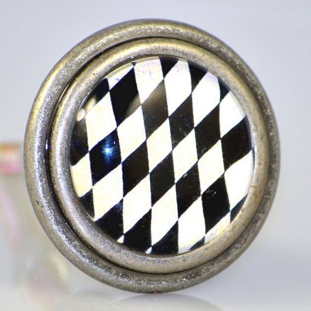 Charleston Knob Company Vintage Pewter Harlequin Knobs