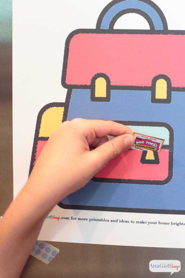 Save big for your school with Box Tops for Education at Walmart. Use this free printable to collect Box Tops and keep them organized so your school can trade them in for cash! #ad #BTFE