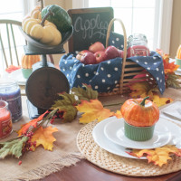 Harvest Inspired Fall Table Decorations