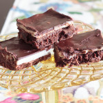 I'm not exaggerating when I say this is the best brownie recipe I've ever tasted. A layer of browned buttercream frosting sandwiched between two layers of chocolate make these worth the time it takes to make them from scratch. #CreateDelight #IDelight #ad