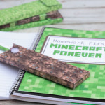Download these free printable patterns to make your own Minecraft school supplies, including pencil boxes, and a cool notebook cover. You'll even learn how to make your own Minecraft pencils. #sponsored #MyGameband #GameontheGo