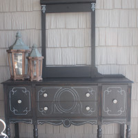 Buffet Makeover & Tips for Painting Furniture Black