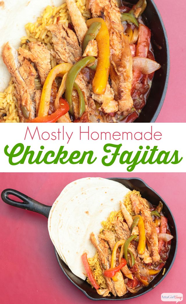 Easy chicken fajitas recipe atta girl says this mostly homemade chicken fajitas recipe tastes as good as what you get from your favorite forumfinder Gallery