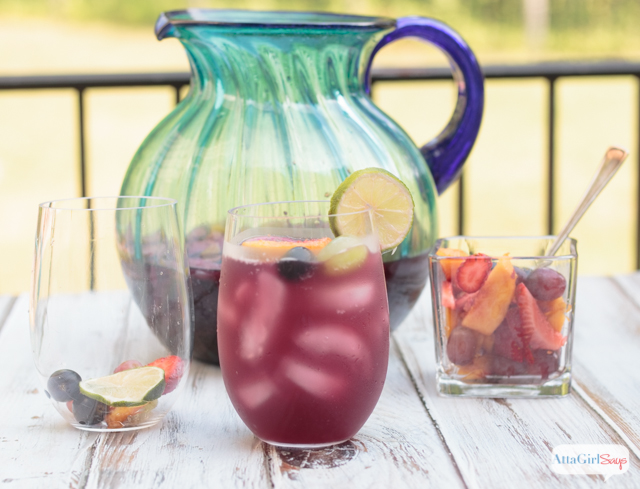 making red wine sangria