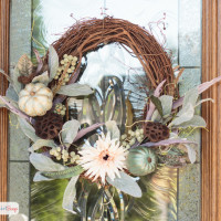 Grapevine & Pumpkins Fall Wreath