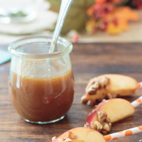 Caramel Macchiato Apple Bites with Homemade Caramel Sauce
