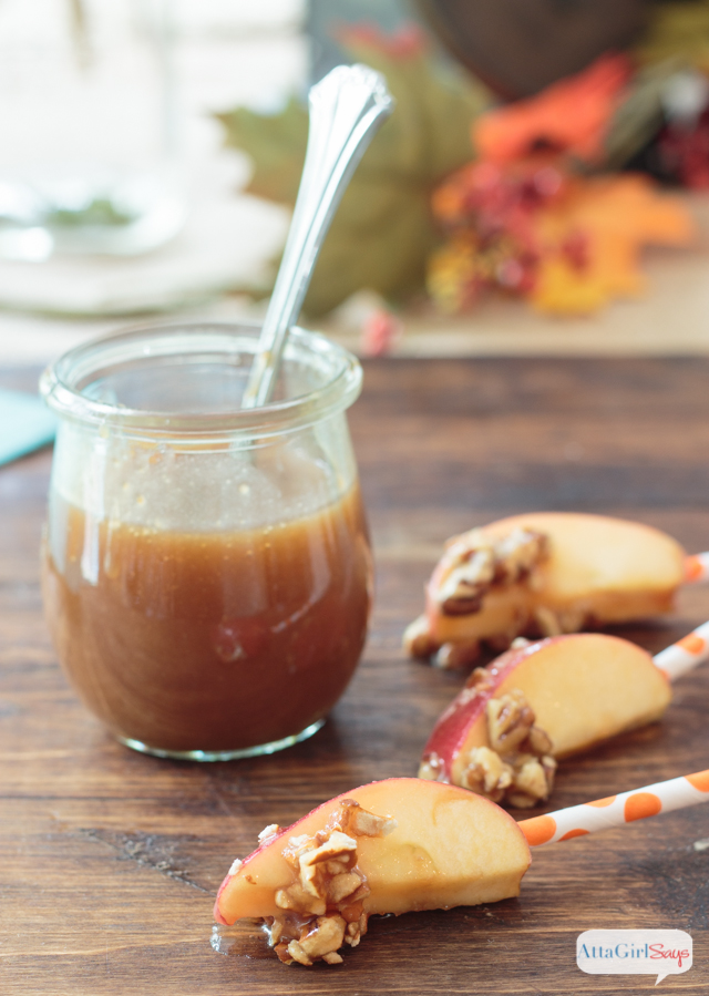 Caramel Macchiato Apple Bites with Homemade Caramel Sauce
