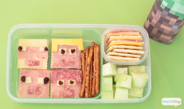 Surprise your favorite gamer with these Minecraft bento box lunches and snacks. Plus check out these other video game inspired bento box ideas. #sponsored #MyGameband #GameOnTheGo