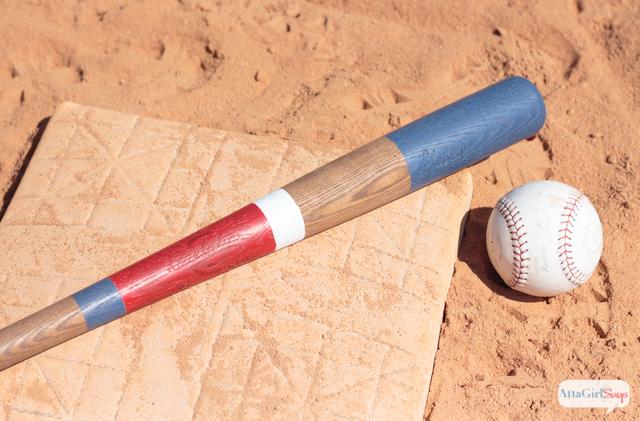 DIY Custom Painted Wooden Baseball Bats