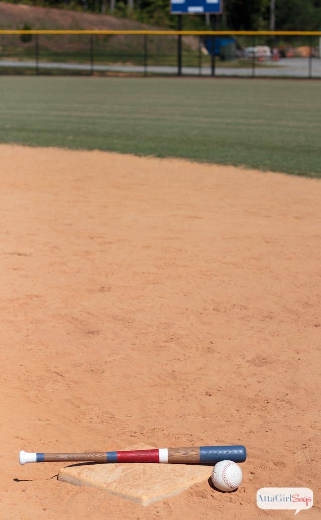Diy Custom Painted Wooden Baseball Bats Atta Girl Says