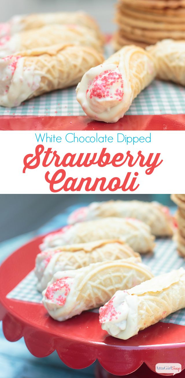 Strawberry Cannoli Cake Recipe