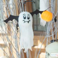 Batty Ghosts: Last Minute Halloween Craft Ideas