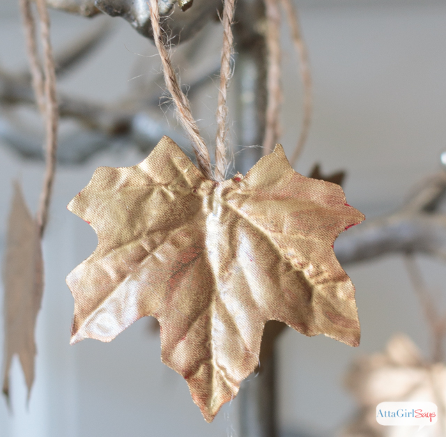 Gilded Fall Leaf Craft