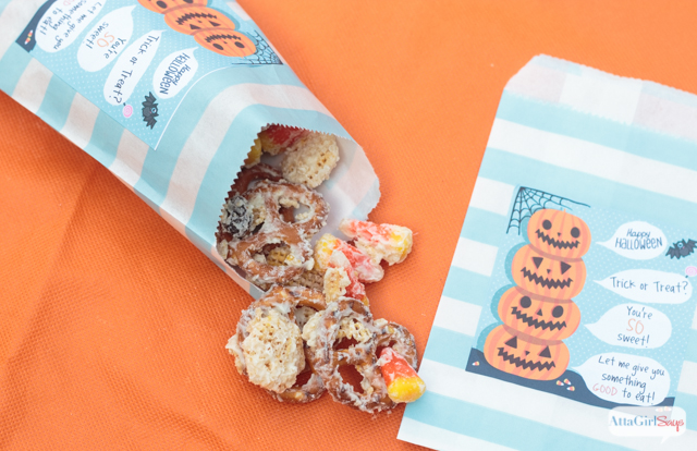 Halloween Party Mix Recipe & Treat Labels