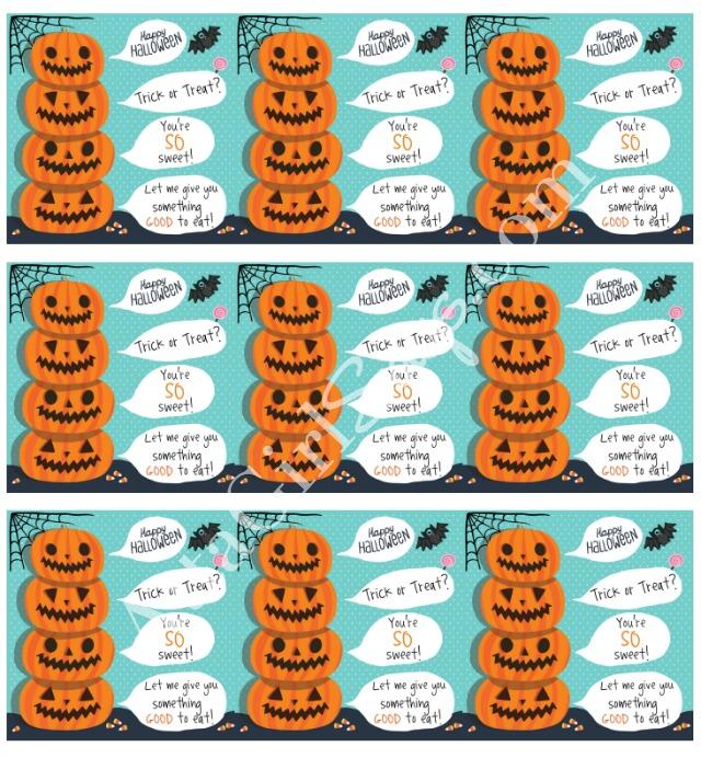 Printable Halloween Treat Labels