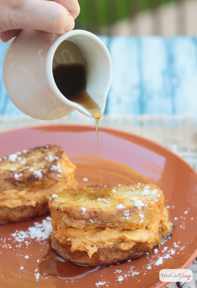 This mouth watering Pumpkin Pie Spice Stuffed French Toast should be your go-to fall breakfast. It features a sweet pumpkin cream cheese mixture sandwiched between slices of French bread and fried to golden perfection.