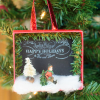 Shadowbox DIY Christmas Ornaments