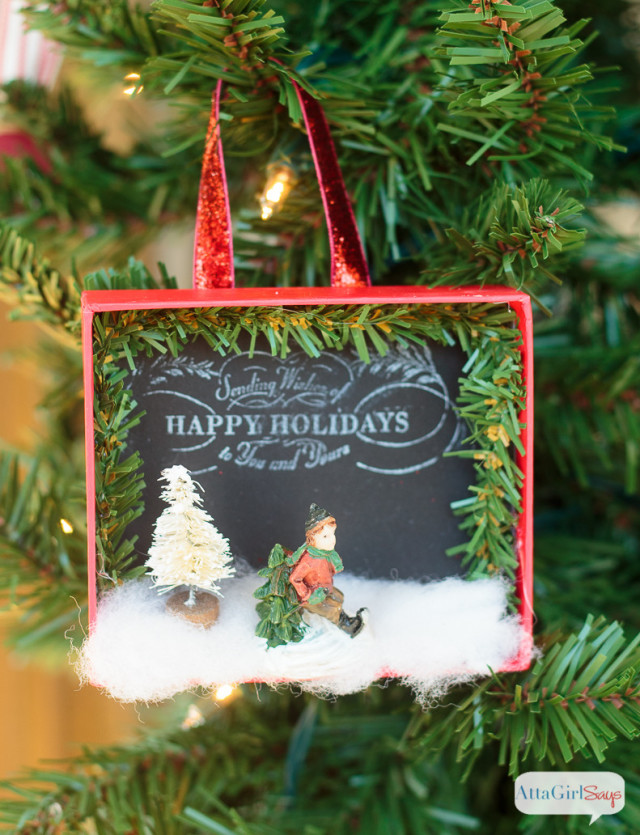 Shadowbox DIY Christmas Ornaments