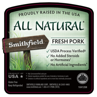 Smithfield All Natural Pork