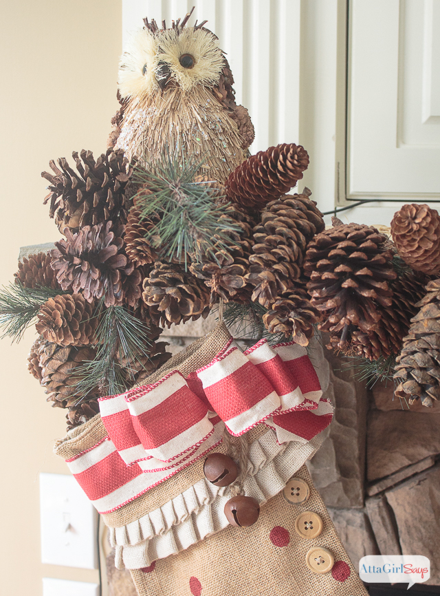 Rustic Holiday Decorating Ideas Part - 33: Gorgeous Vintage Rustic Christmas Mantel Decorations, Plus More Christmas  Decorating Ideas From Other Bloggers.