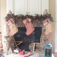Vintage Rustic Christmas Mantel Decorations
