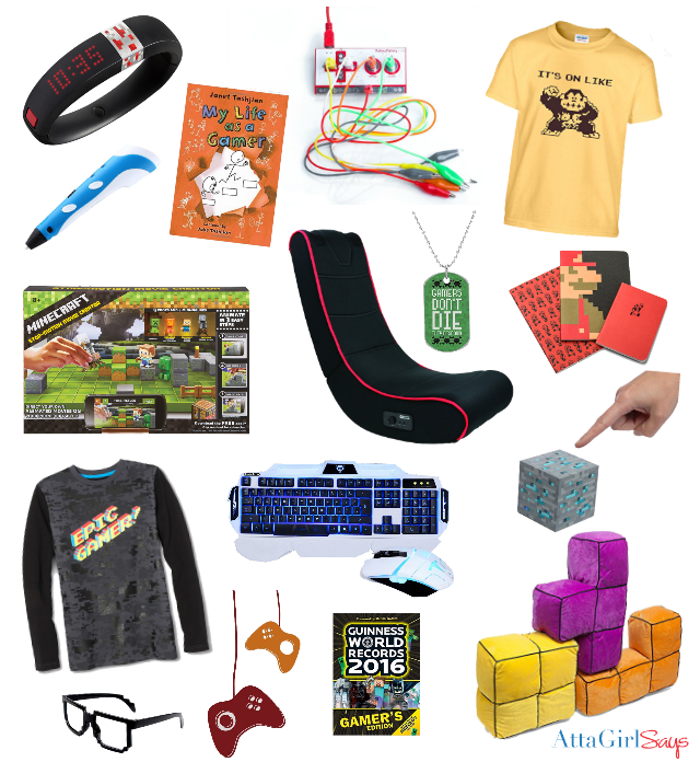 Do you have a Minecraft fan or young gamer in your life? Check out this list of cool gifts for gamers. It includes gear, clothing and cool stuff tech-savvy kids will love. There are even some cool educational items on the list. #sponsored #giftguide