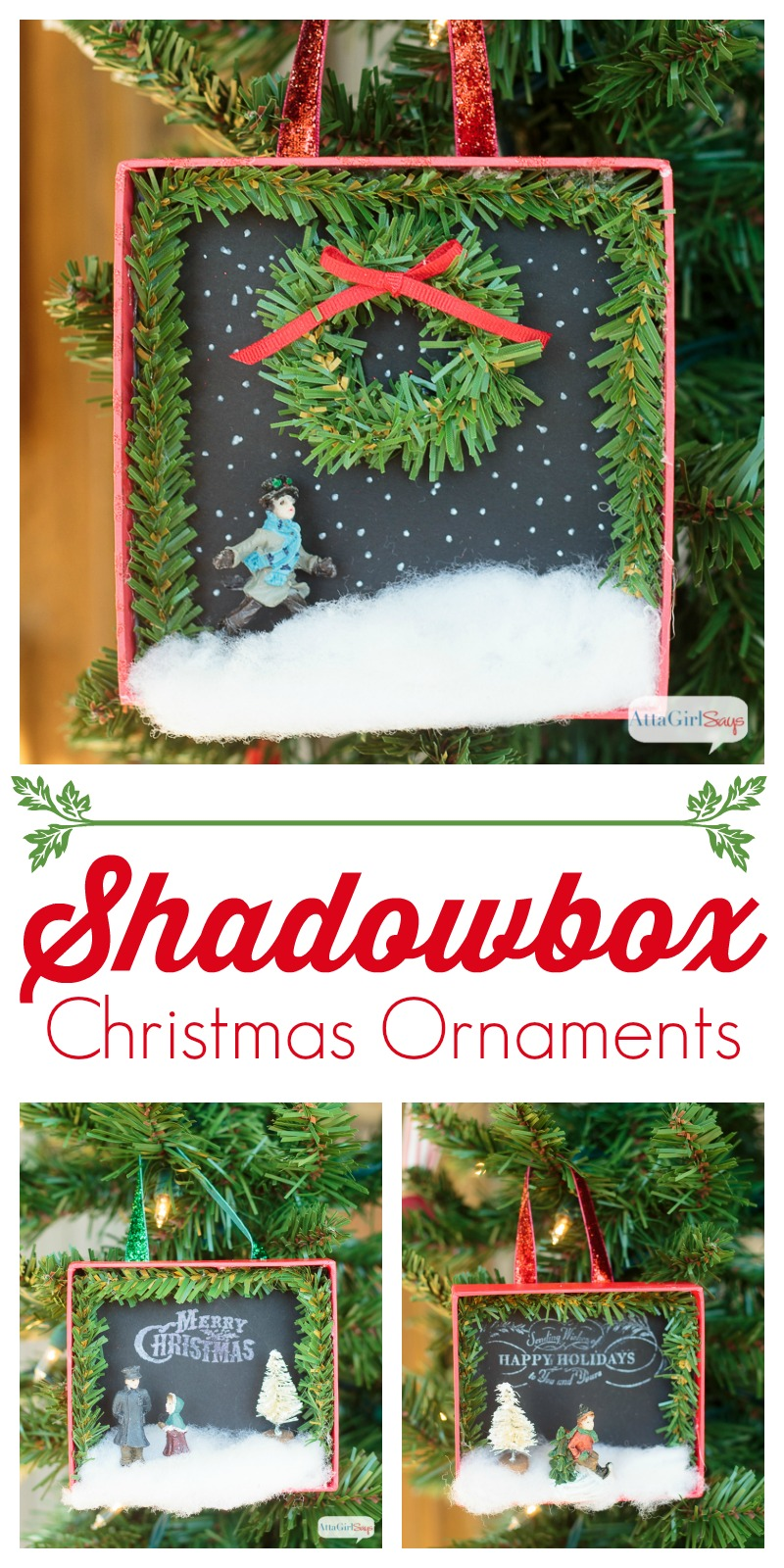 Shadowbox diy christmas ornaments atta girl says - Great christmas ornaments that you need for your home ...