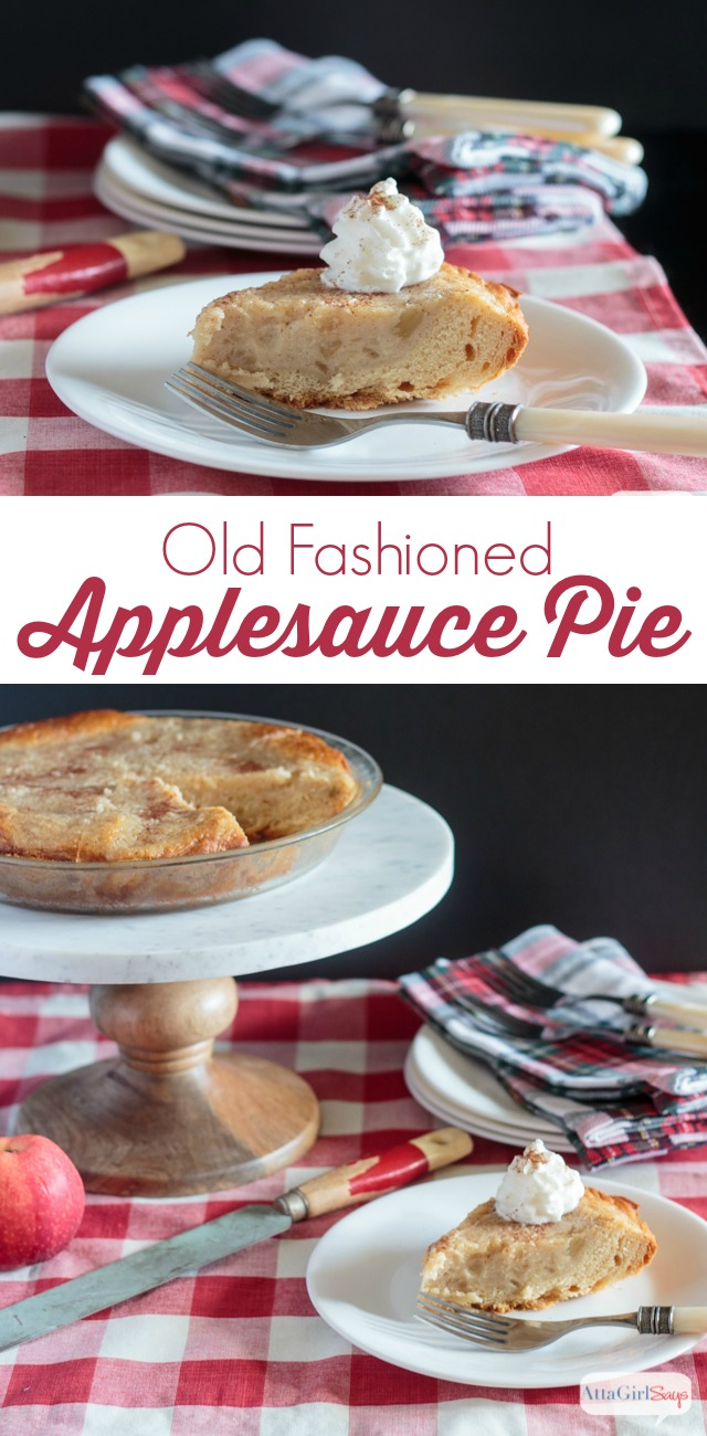 Old Fashioned Applesauce Pie