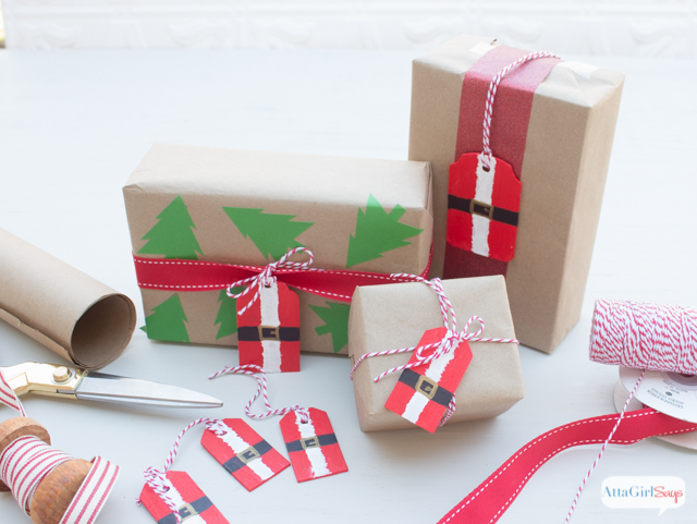Aren't these just the cutest Christmas gift tags for Santa gifts? Learn how easy it is to make your own.