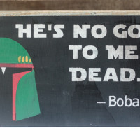 DIY Boba Fett Star Wars Sign