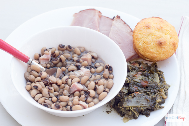 Serve up good luck and prosperity on New Year's Day with these southern cooking recipes for black-eyed peas and collard greens. Legend has it that the more you eat, the more riches and good fortune you'll experience in the new year.
