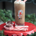 Don't pour out that pot of lukewarm coffee. Save it and try this deliciously simple iced peppermint mocha recipe. It's the perfect latte for the holidays. #ad #ShareYourDelight #indeligh