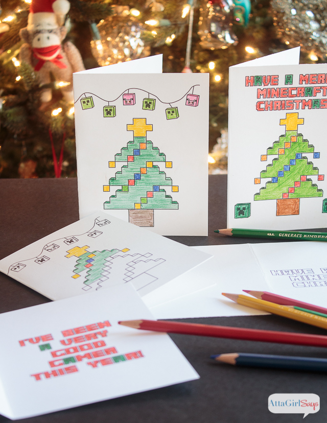 Minecraft Coloring Pages Christmas