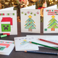 Minecraft Coloring Pages Christmas Cards