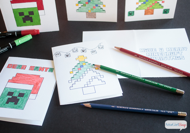 Pull Out Your Markers Crayons And Colored Pencils Use These FREE Minecraft Coloring